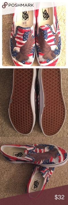 Cheetah print slip on Vans Brand new. Size 6 but I'm a size