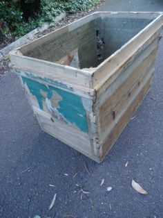 Vintage Extra Large Pine Freight Crate Storage/Toy Box/Table