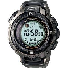 cb0e0068fa5 Casio Men s Pathfinder PRG130T-7V Silver Quartz Watch Relógios Casio G  Shock