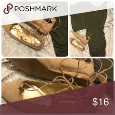 Nude Ballet Flats Scalloped Edges and soft nude suede ballet flats pair perfectly with everything Spring Carlos Santana Shoes Flats & Loafers