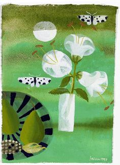 Mary Fedden   Still Life with Flowers and Butterflies