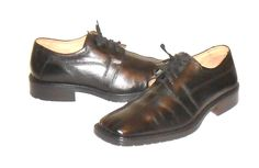 Venturini Men's Black Leather Oxford Shoe Made in Italy Size 10 M #Venturini #Oxfords