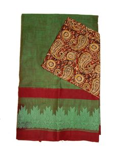 Kanchi COtton Sarees with Kalamkari Blouse Price: 1555/- (For Bulk Buyers / Wholesale / Boutiques / Retail shops for any trade inquiries Please contact Immediately our WhatsApp no: 8801302000)