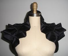 Black Shrug Bolero Shoulder Wrap. Ready to Ship    This listing is for a black couture wrap made with black shiny taffeta. Its nice and shiny and is the