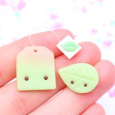 #kawaii #charms #polymer #clay #tea #bag #leaf