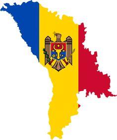 Flag map of Moldova Flags Of The World, We Are The World, Republica Moldova, World Thinking Day, Kids Study, Logo Creation, World Crafts, Custom Logos, Romania