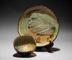Small plate and bowl set by Ansel Beck Pottery. American Made. See the designer's work at the 2016 American Made Show, Washington DC. January 15-17, 2016. americanmadeshow.com #americanmade, #americanmadeshow, #ceramic, #pottery, #plate, #bowl