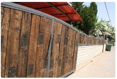 Now this is a gate!! Railroad ties recycled.