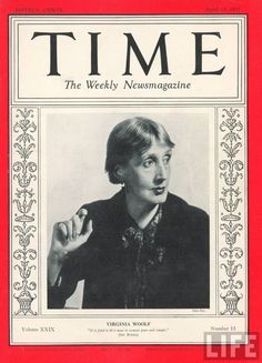 TIME Magazine Cover: Virginia Woolf, April 12, 1937, photo by Man Ray