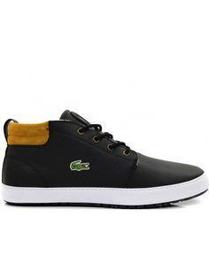 0d3cec1a19c LACOSTE AMPTHIL BLACK BROWN | HEREN SNEAKERS - Online sneakers kopen doe je  op Fashion Foot Wear