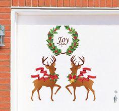 Holiday Joy Reindeer Garage Magnet Set
