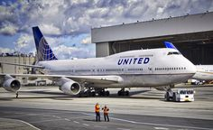 United Airlines Boeing 747 N175UA at San Francisco Airport. 2016.