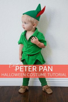 Peter Pan Halloween Costume for Kids Peter Pan idea for Halloween! MorePeter Pan idea for Halloween! Peter Pan Halloween Costumes, Hallowen Costume, Diy Halloween Costumes For Kids, Halloween Kostüm, Peter Pan Costumes, Diy Peter Pan Costume, Baby Halloween Costumes For Boys, Kids Costumes Boys, Scary Costumes