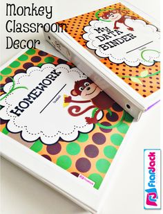 Pinterest Ideas, FREE Monkey Behavior Coupons, and lots of FlapJack Monkey Classroom Decor pictures for decorating your classroom with a monkey theme $