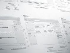 Dribbble - Mac Chat Application Wireframes by Danny Keane