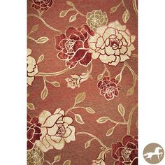 Christopher Knight Home Flatweave Flora Brick Red Area Rug (6'9 x 9'6) - Overstock™ Shopping - Great Deals on Christopher Knight Home 5x8 - 6x9 Rugs