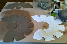 slab constructed bowls using templates