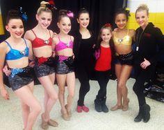 Kendall, Chloe, Maddie, Brooke, Kenzie, Nia, and Paige of the Abby Lee Dance Company
