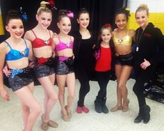 Kendall, Chloe, Maddie, Brooke, Kenzie, Nia, and Paige of the Abby Lee Dance Company