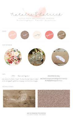 Natalie and Patrick's Romantic Rustic Wedding Logo - Mint 102 Wedding Branding + Event Branding #weddingbrand #weddinglogo