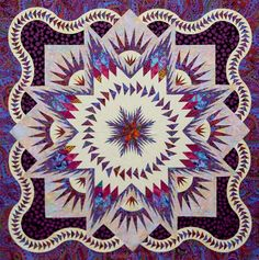 Glacier Star ~Quiltworx.com, made by Certified Instructor Gretchen Veteran