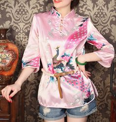 Cheap button, Buy Quality button pouch directly from China button shirt Suppliers: Material:CottonPolyester Size: S M L XL XXL Color:PinkBlue 2differen