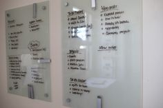 A great way to stay organized. I love modern twist to the classic dry erase board