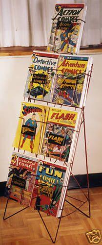 1939 Dc Comics Superhero Comic Book Rack