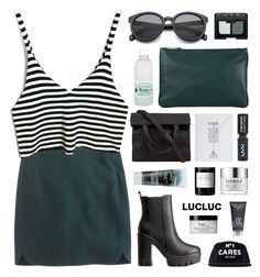 """LucLuc 4.30"" by jesicacecillia ❤ liked on Polyvore featuring J.Crew, Korres, Jil Sander, NARS Cosmetics, Topshop, Charlotte Russe, Byredo, Alexander Wang, H2O+ and Clinique"
