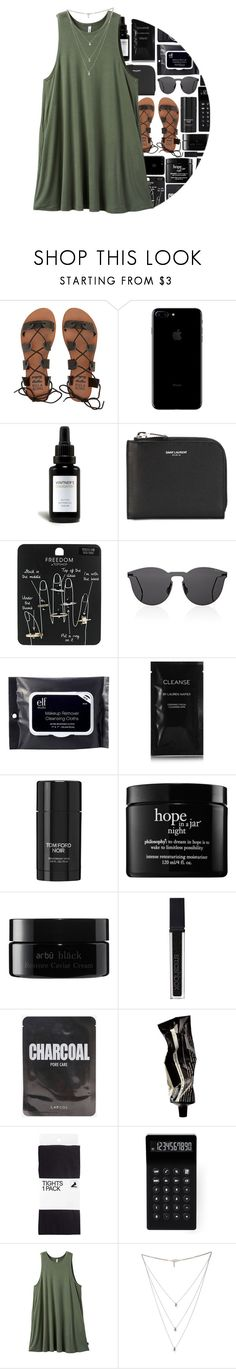"""Untitled #294"" by maevekaterina on Polyvore featuring Billabong, Vintner's Daughter, Yves Saint Laurent, Topshop, Illesteva, e.l.f., Cleanse by Lauren Napier, Tom Ford, philosophy and Fujifilm"