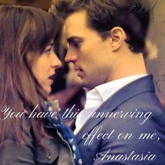 Jamie as Christian Grey and Dakota As Anastaisa Steele in fifty Shades Movie