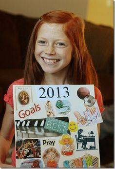 Have children make poster of goals for what they would like to accomplish in the new year.