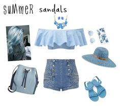 """""""summer and blue"""" by cool-julija ❤ liked on Polyvore featuring Givenchy, Lisa Marie Fernandez, Pierre Balmain, INC International Concepts, Betmar, Sonix, Bling Jewelry and summersandals"""
