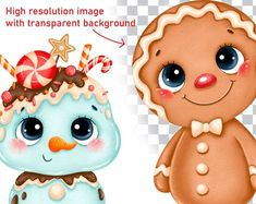 Gingerbread Christmas Decor, Gingerbread Crafts, Gingerbread Man, Christmas Art, Christmas Ornaments, Planner Stickers, Packs Papier, Man Clipart, Christmas Clipart