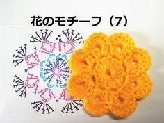 かぎ編みの花のモチーフ(7):かぎ編みの基本 How to Crochet Flower Motif