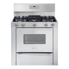 Frigidaire Professional 36 in. 3.7 cu. ft. Gas Range with Self-Cleaning Oven in Stainless Steel-FPGF3685LS - The Home Depot
