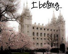 I often feel like I don't belong at school, with my friends, or out in this world. The one place I do belong is at the temple. Because I belong to The Church of Jesus Christ of Latter Day Saints.