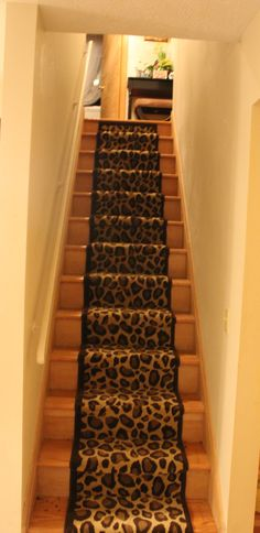 Animal Print Stair Runner.
