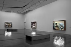 Installation view of Jeff Wall Photographs