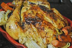 Super easy and delicious lemon butter roasted chicken!