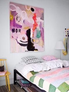 big art over bed
