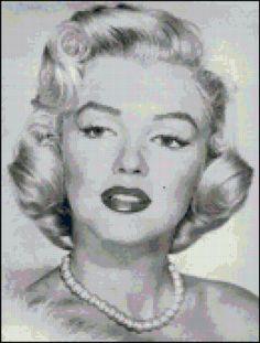 Marilyn Monroe Cross Stitch Pattern by crossstitchnerd on Etsy, $5.50