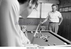 Elvis Presley with his father Vernon 1956 (Playing Pool)