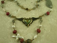 Semi-Precious Eclectic Handcrafted Necklace\Take My Heart - New Arrivals  | Adorned by Lonnie