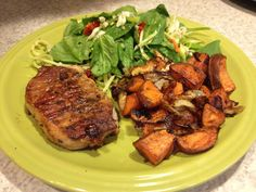 Orange Molasses Pork Chops Plate