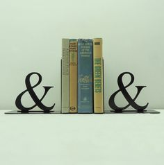 Ampersand Metal Art Bookends  Free USA by KnobCreekMetalArts, $59.99