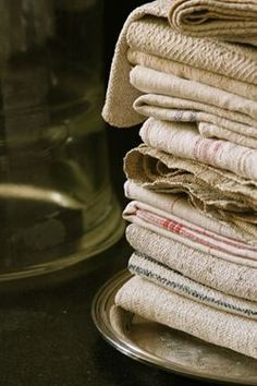 French linen and hemp. Impossible to have too much:  handtowels, dishtowels, duvet covers, pillow cases, upholstery....