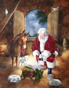 23 Ideas Quotes Christmas Santa Xmas For 2019 Christmas Scenes, Noel Christmas, Father Christmas, Vintage Christmas Cards, Christmas Pictures, Christmas Posters, Christmas Nativity Scene, Christmas 2019, Santa Pictures