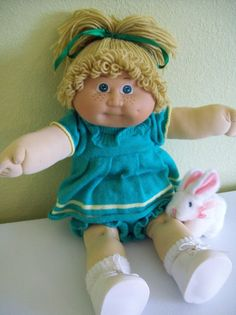 "1983 Cabbage Patch Kids Jesmar Girl Doll Strawberry Blond Original Spain 18"" #CabbagePatchKids #DollswithClothingAccessories"