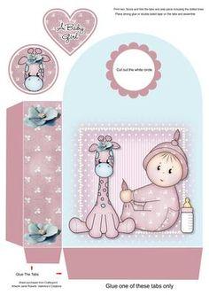 Giraffe Baby Girl Large Gift Bag - CUP614463_2053 | Craftsuprint